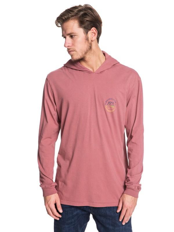 0 SNAP BACK LS HOODY Pink AQYZT06457 Quiksilver