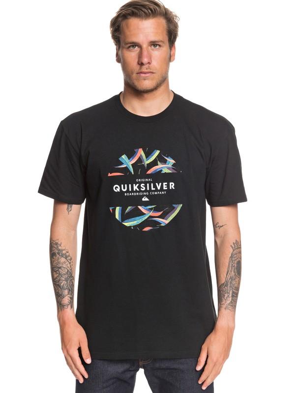 0 Mixed Prints Tee Black AQYZT06540 Quiksilver