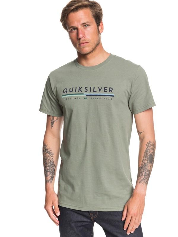 0 Retro Lines Tee Green AQYZT06541 Quiksilver