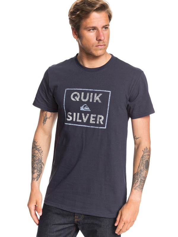 0 Boxed Intent Tee Blue AQYZT06549 Quiksilver