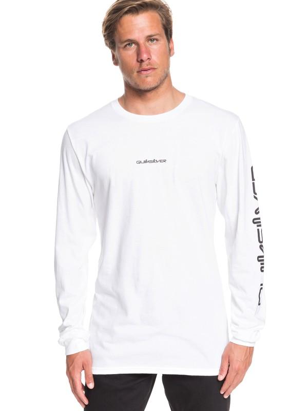 0 Razors Edge Long Sleeve Tee White AQYZT06557 Quiksilver