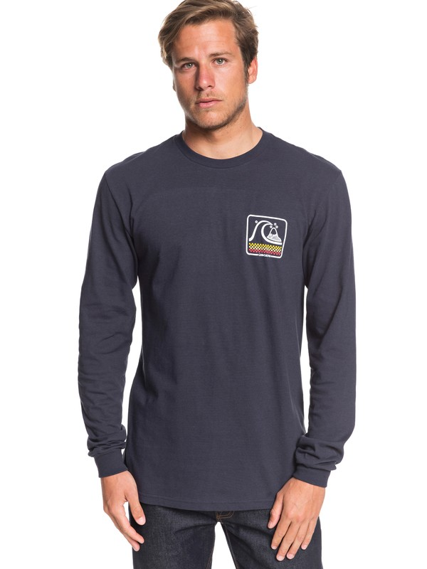 0 Bubble Buggy Long Sleeve Tee Blue AQYZT06561 Quiksilver