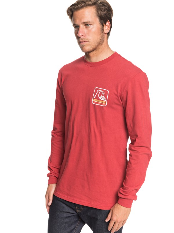 0 Bubble Buggy Long Sleeve Tee Red AQYZT06561 Quiksilver