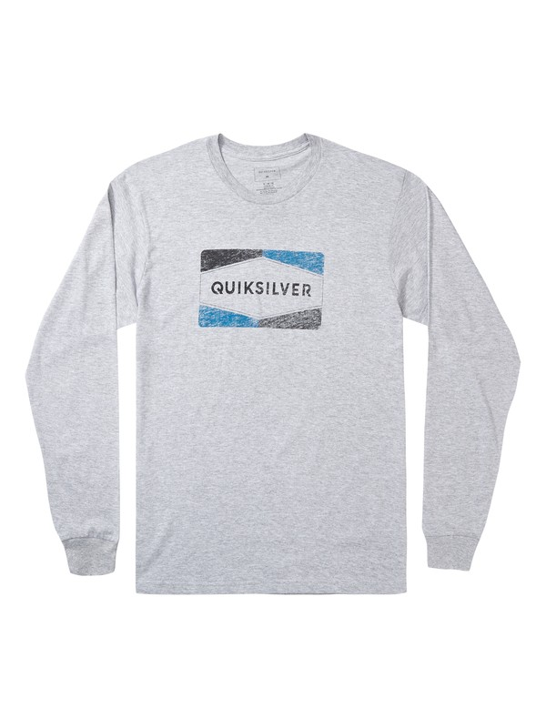 0 Chappy Long Sleeve Tee Grey AQYZT06869 Quiksilver