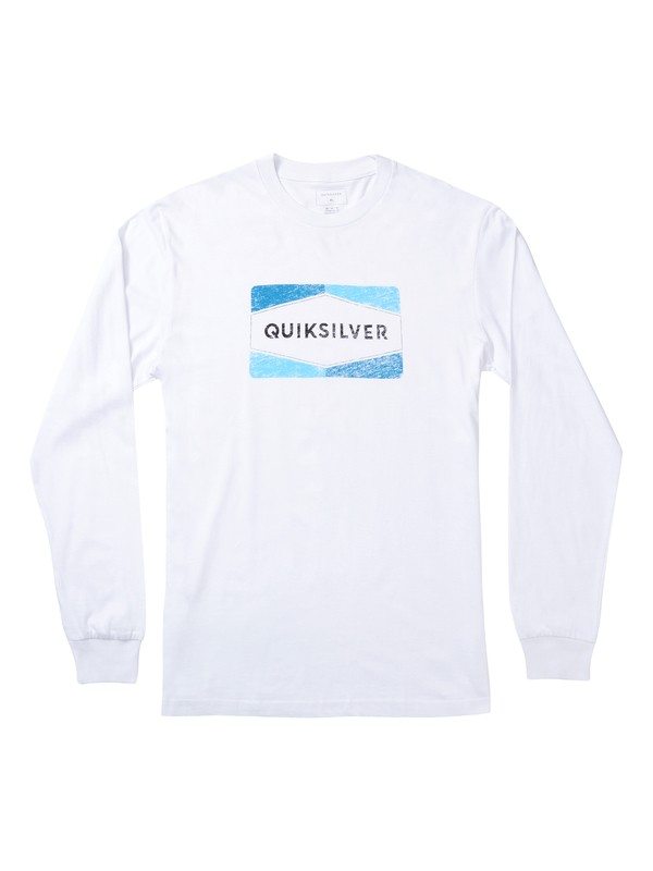 0 Chappy Long Sleeve Tee White AQYZT06869 Quiksilver