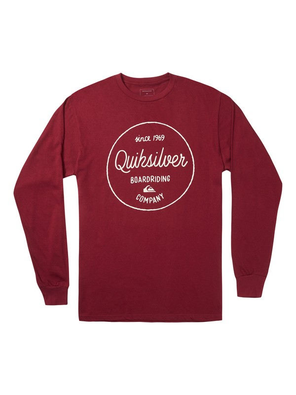 0 Activist Morning Long Sleeve Tee Red AQYZT06872 Quiksilver