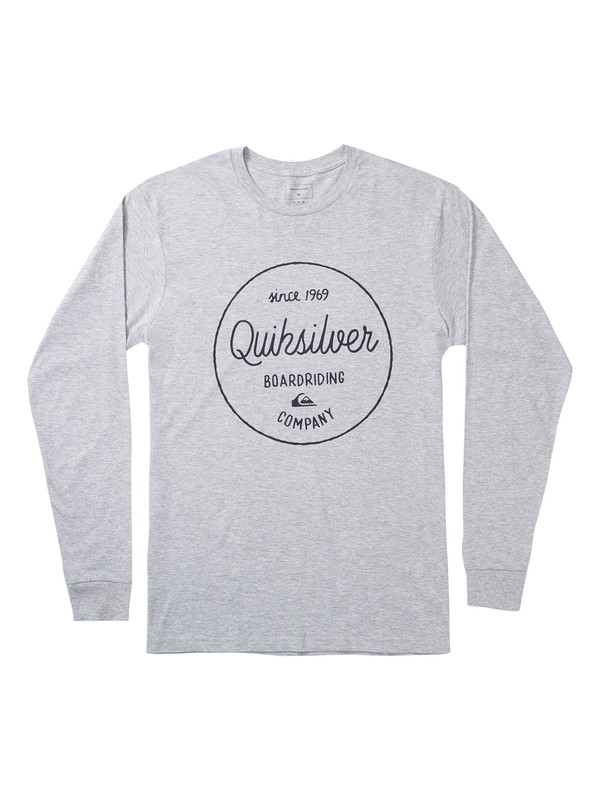 0 Activist Morning Long Sleeve Tee Grey AQYZT06872 Quiksilver