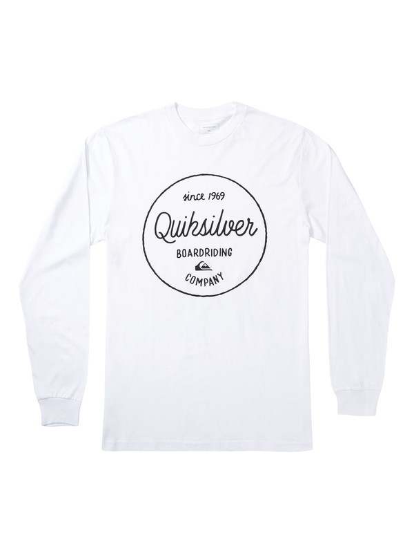 0 Activist Morning Long Sleeve Tee White AQYZT06872 Quiksilver
