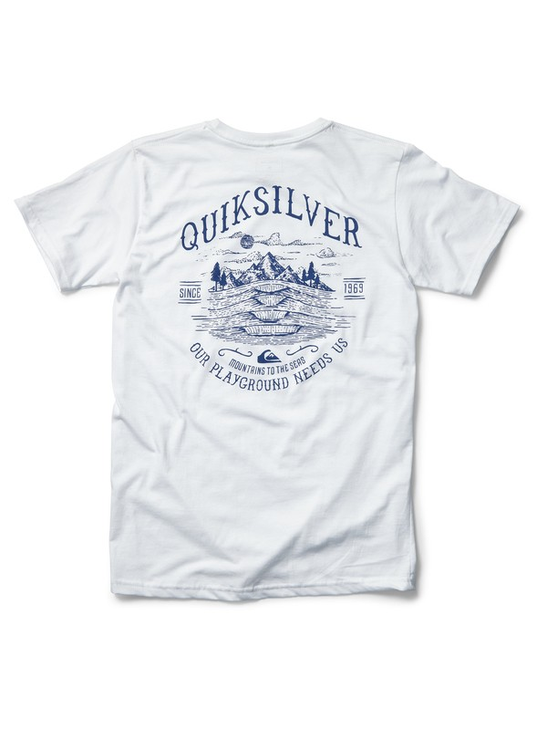 0 Protect Our Playground Tee White AQYZT07025 Quiksilver