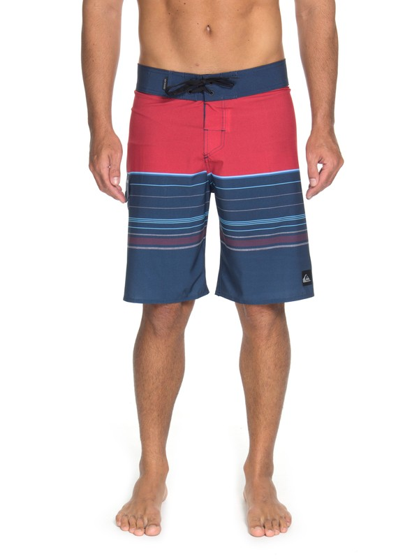 "0 Bermuda Boardshort Slab Stripe 21"" Quiksilver Preto BR60012597 Quiksilver"