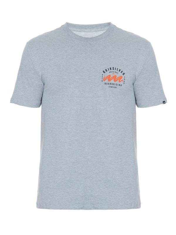 0 Camiseta Masculina Manga Curta Estampa Frente e Costas Quiksilver Cinza BR61114293 Quiksilver