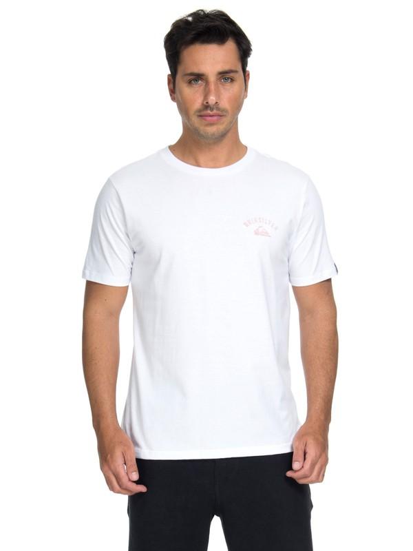 0 Camiseta Stacked Up Quiksilver Branco BR61114653 Quiksilver