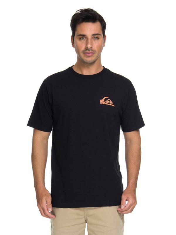 0 Camiseta Quik Stripe Logo Quiksilver Preto BR61114654 Quiksilver