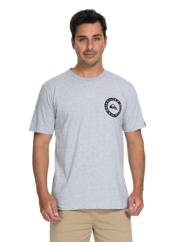 0 Camiseta Shores Vibes Quiksilver Cinza BR61114657 Quiksilver