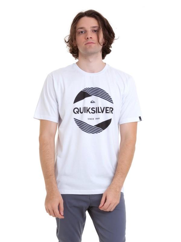 0 Camiseta Cut Above Quiksilver Branco BR61114659 Quiksilver