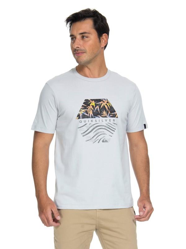 0 Camiseta Bamboo Breakfast Quiksilver Cinza BR61114672 Quiksilver