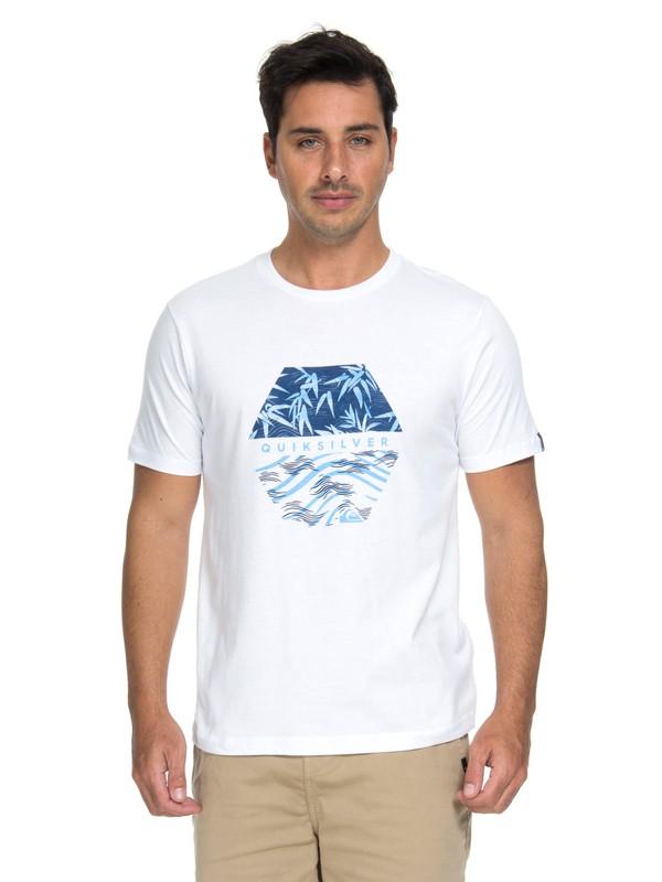 0 Camiseta Bamboo Breakfast Quiksilver Branco BR61114672 Quiksilver