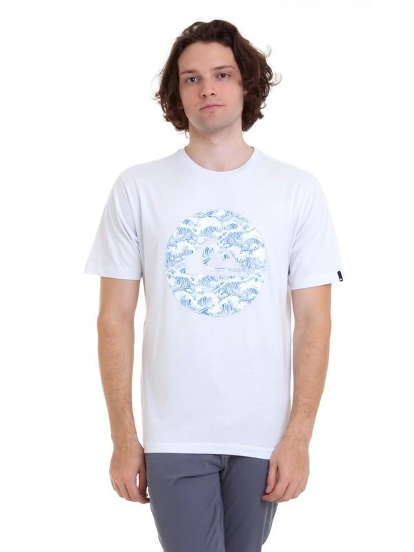 0 Camiseta Filtro Quiksilver Branco BR61114680 Quiksilver