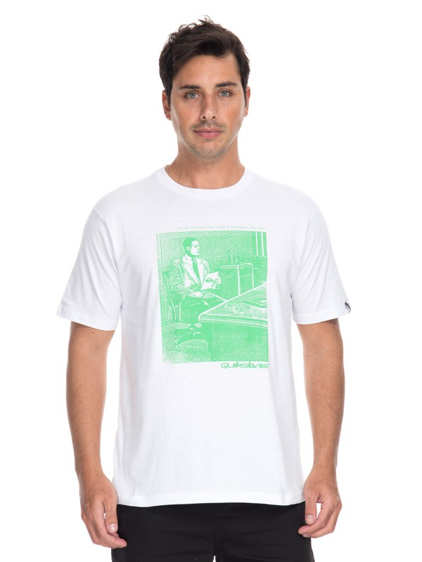 0 Camiseta Welcome to Paradise Quiksilver Branco BR61114683 Quiksilver
