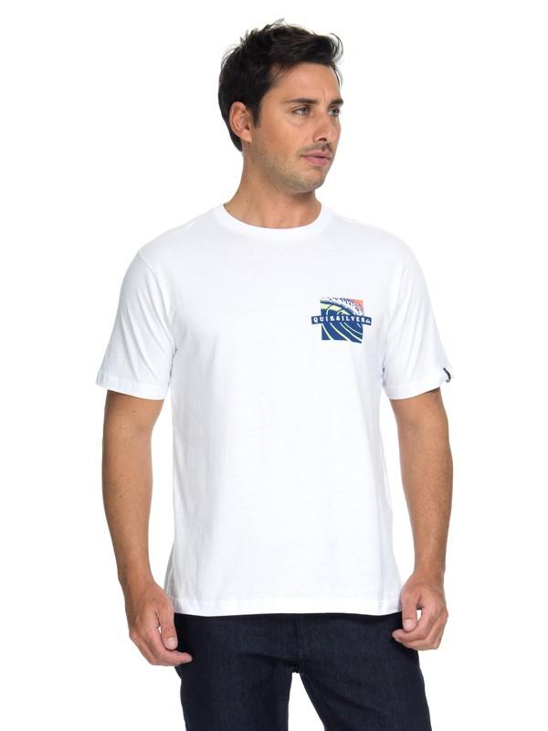 0 Camiseta Tropic Eruption Quiksilver Branco BR61114685 Quiksilver
