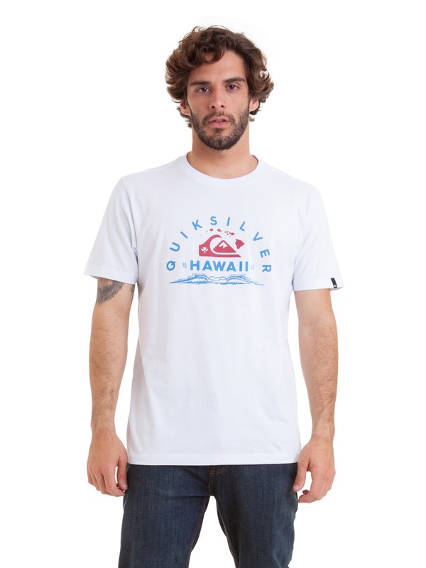 0 Camiseta Kewalo Quiksilver Branco BR61114830 Quiksilver