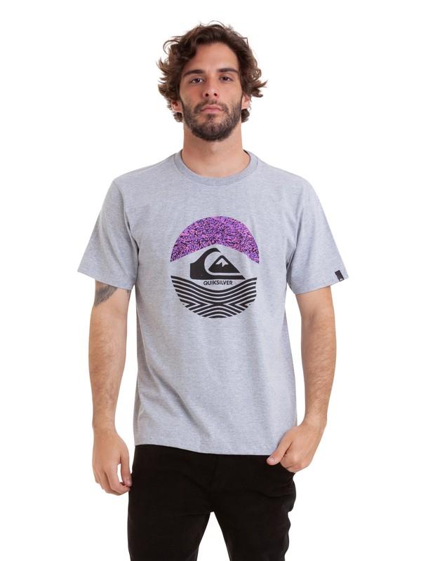 0 Camiseta Stomped On Quiksilver Cinza BR61114857 Quiksilver