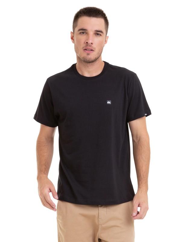 0 Camiseta Chest Transfer Quiksilver Preto BR61115060 Quiksilver