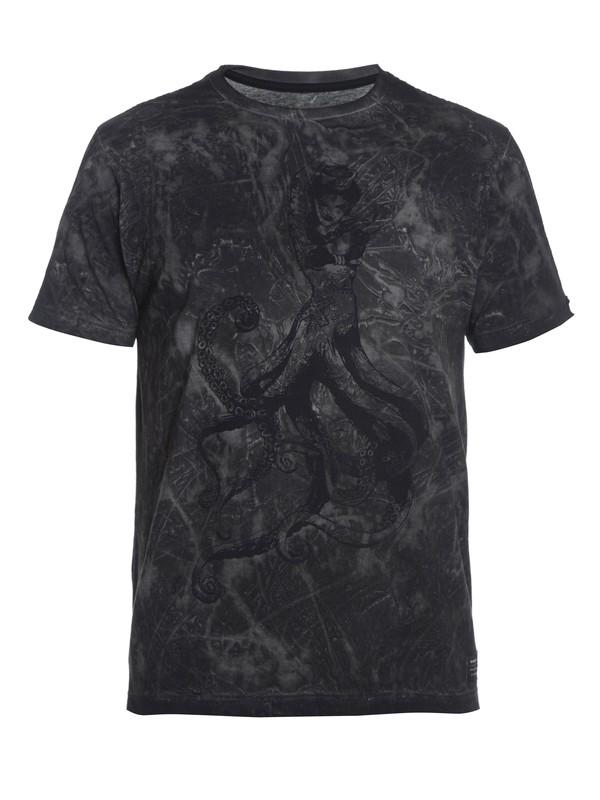 0 Camiseta Masculina Manga Curta Slim Fit Quiksilver. Preto BR61142787 Quiksilver
