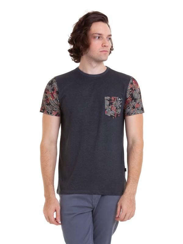 0 Camiseta Alta Tee Quiksilver Cinza BR61142964 Quiksilver