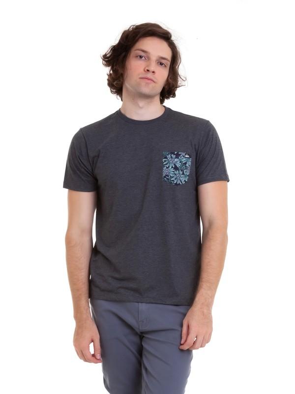 0 Camiseta Pocket Quiksilver Cinza BR61142968 Quiksilver