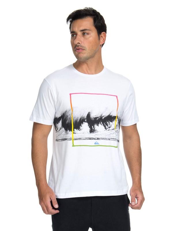 0 Camiseta Heavy Vibe Quiksilver Branco BR61142970 Quiksilver