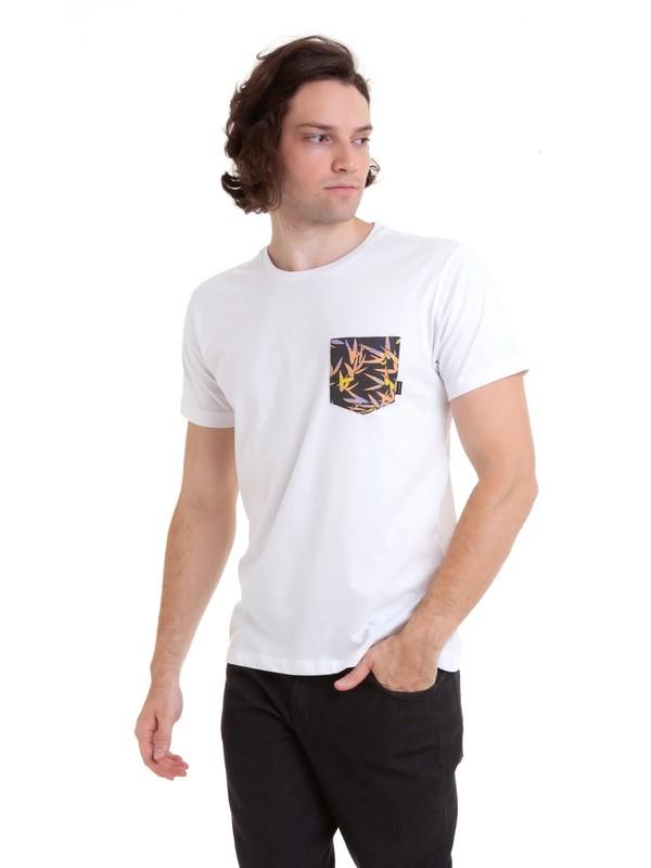 0 Camiseta Filter Logo Quiksilver Branco BR61142975 Quiksilver