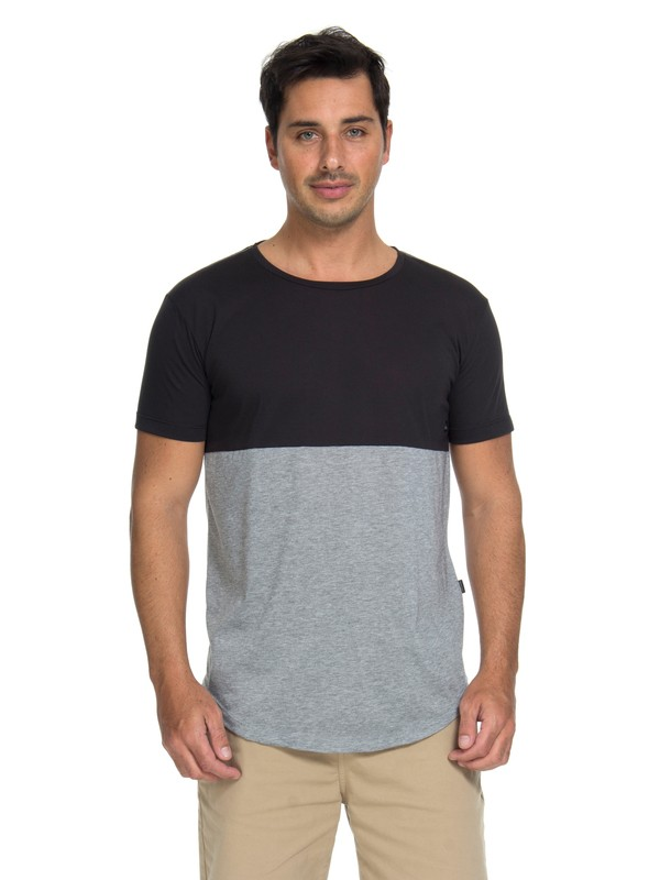 0 Camiseta Athletic Fit Quiksilver Cinza BR61142981 Quiksilver
