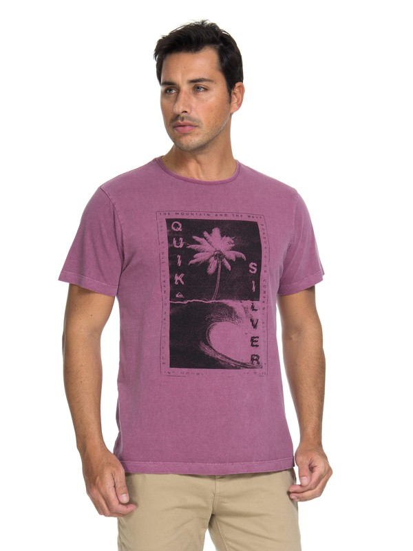 0 Camiseta Destroyed Reality Quiksilver Pink BR61142992 Quiksilver