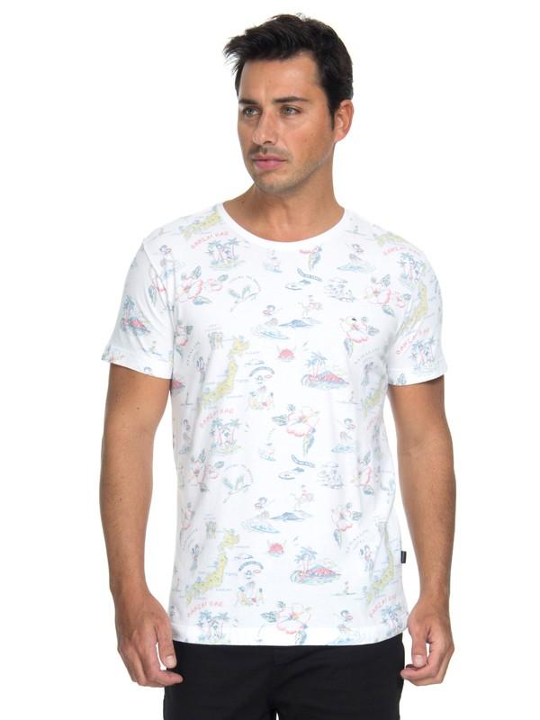 0 Camiseta Full Print Quiksilver Branco BR61142993 Quiksilver