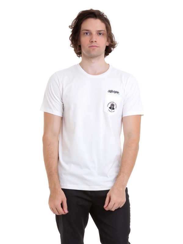 0 Camiseta Roppongi Quiksilver Branco BR61142996 Quiksilver