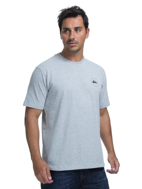 0 Camiseta Lycra Surf Tee Round Quiksilver Cinza BR61151048 Quiksilver