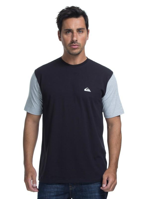 0 Camiseta Lycra Surf Tee Logo Quiksilver Preto BR61151050 Quiksilver