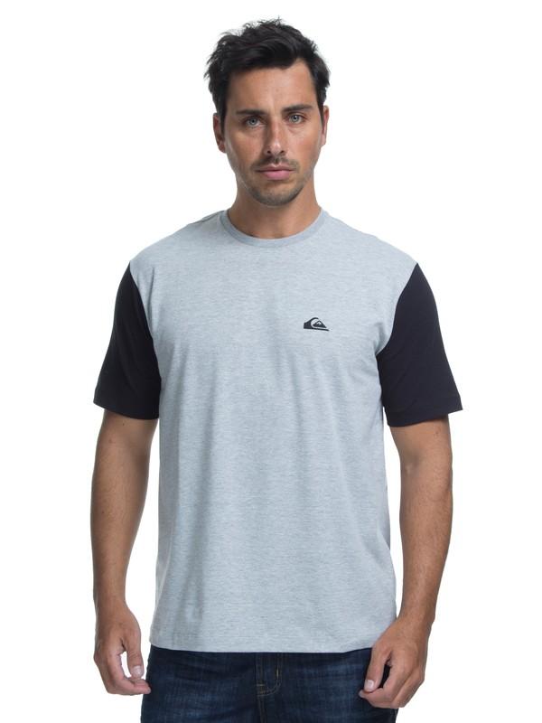 0 Camiseta Lycra Surf Tee Logo Quiksilver Cinza BR61151050 Quiksilver