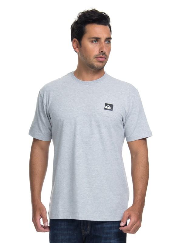 0 Camiseta Lycra Surf Tee Transfer Quiksilver Cinza BR61151052 Quiksilver