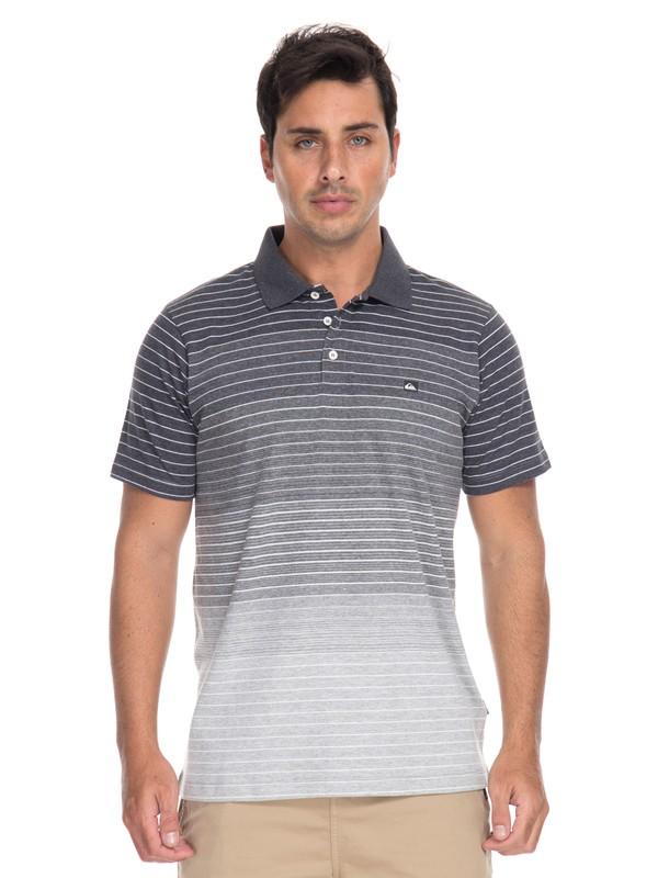 0 Camiseta Polo Listrada Apac Quiksilver Cinza BR61161545 Quiksilver