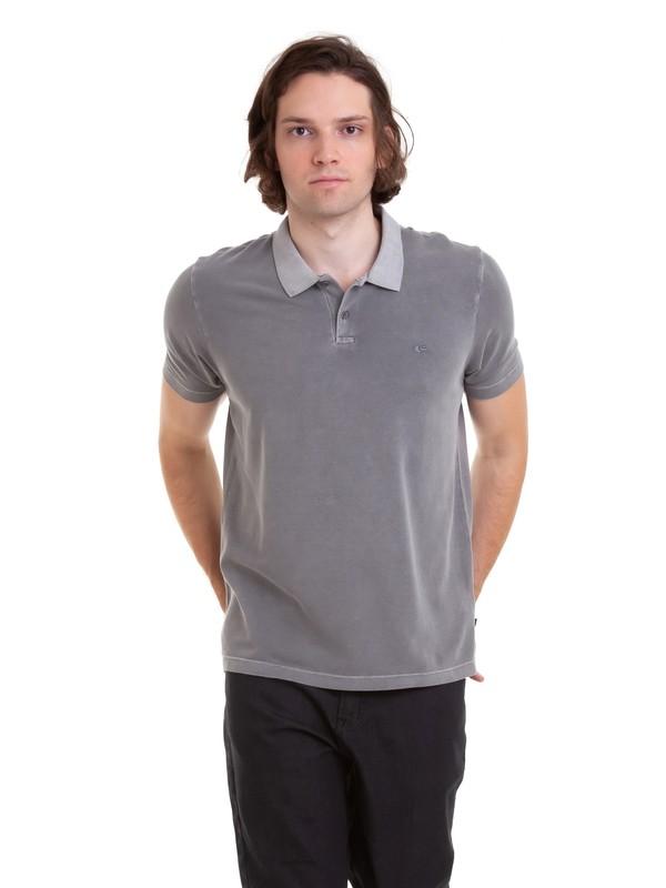 0 Camiseta Polo Piquet Dyed Quiksilver Cinza BR61161551 Quiksilver