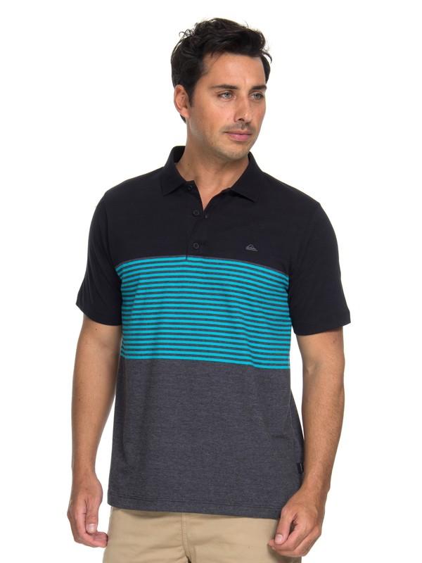 0 Camiseta Polo Volley Quiksilver Preto BR61161553 Quiksilver