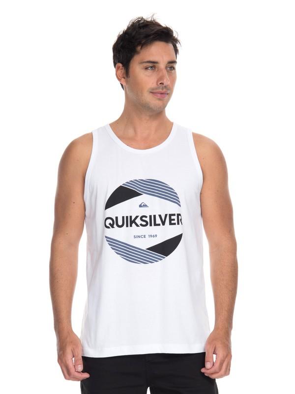 0 Camiseta Regata Cut Above Quiksilver Branco BR61231978 Quiksilver