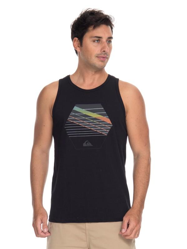 0 Camiseta Regata Straps Quiksilver Preto BR61231983 Quiksilver