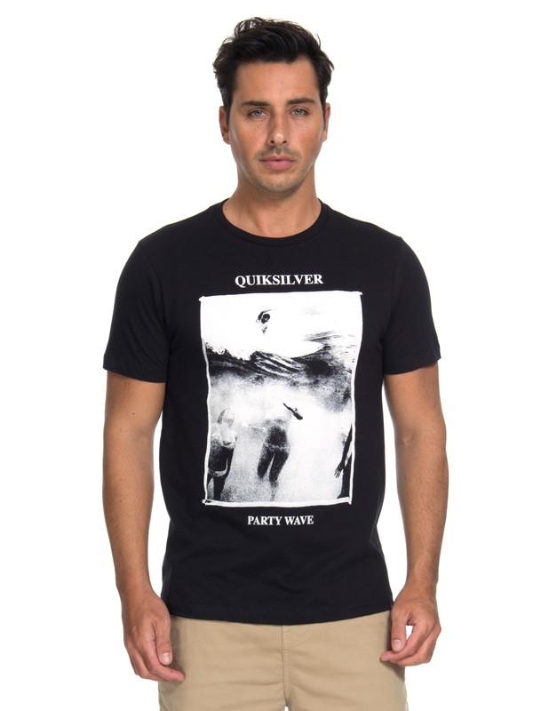 0 Camiseta Wave Party Quiksilver Preto BR61241609 Quiksilver
