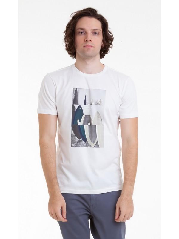 0 Camiseta Board Room Quiksilver Branco BR61241612 Quiksilver