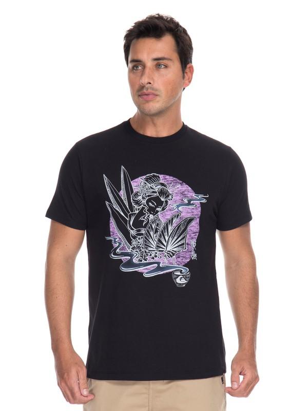 0 Camiseta Hot Sake Quiksilver Preto BR61241614 Quiksilver