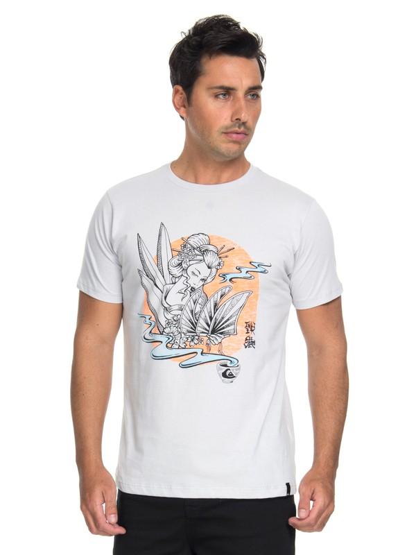 0 Camiseta Hot Sake Quiksilver Cinza BR61241614 Quiksilver