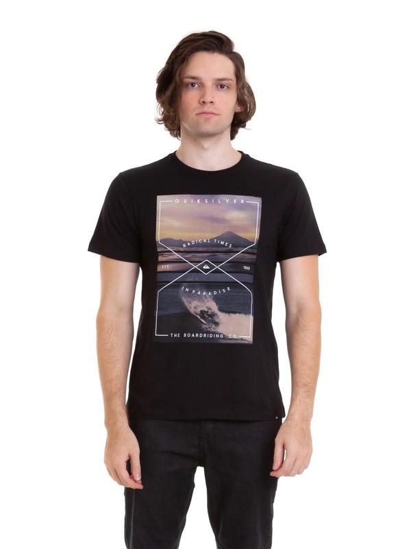 0 Camiseta Graphic Quiksilver Preto BR61241624 Quiksilver